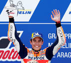 Márquez gana en MotorLand y acaricia el título de campeón