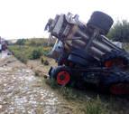 Muere el conductor de un tractor en un accidente con un camión en Olite