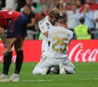 Vinícius lloró tras anotar el primer gol en el partido contra Osasuna