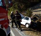 Una persona herida en un accidente cerca de Urroz Villa