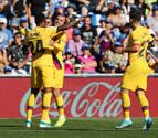 Luis Suárez y Junior Firpo dan la victoria al Barcelona en Getafe