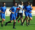 Sesión de recuperación para los jugadores de Osasuna en Tajonar