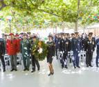 Homenajes y una condecoración en la fiesta de la Policía Nacional en Tudela