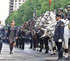 La presidenta de Navarra vuelve a acudir al día de la Policía Nacional