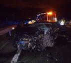 Fallece el conductor de un coche que circulaba en dirección contraria en la A-12 tras ocasionar un accidente