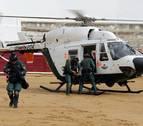 La Guardia Civil exhibe sus habilidades en la plaza de toros de Estella