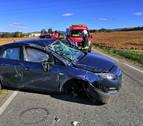 Un herido en un accidente de tráfico entre la avenida de Aróstegui y Cizur