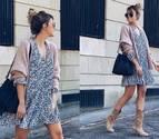 Look con vestido y botas para otoño