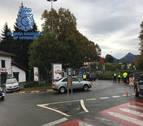 Policías españoles y franceses hacen patrullas en la frontera de Dantxarinea