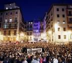 Una manifestación rechaza en Pamplona la sentencia del