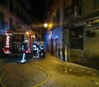 Un incendio provoca daños materiales en un bar de la calle Mayor de Tafalla