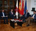 Toquero y Ciriza hablan sobre el Tren de Altas Prestaciones y el Canal de Navarra