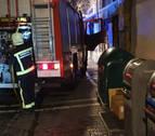 Incendio en un contenedor soterrado en el Casco Antiguo de Pamplona