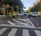 Iturrama libera espacio y adapta ya sus 121 pasos peatonales ilegales
