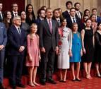 Los Reyes y sus hijas participan en las audiencias en Oviedo