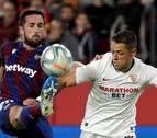 El primer gol de De Jong sitúa sexto al Sevilla ante un Levante poco ofensivo