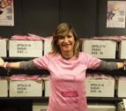 Saray, cerca de llegar a los 15.000 dorsales de la carrera contra el cáncer de mama