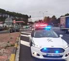 Herido leve tras una colisión entre dos vehículos en la A-12 en Zizur