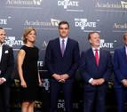 Los candidatos ya están en el Pabellón de Cristal a la espera de que arranque el debate