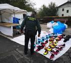La Guardia Civil se incauta de 173 pares de zapatillas falsificadas en Elizondo