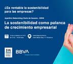 ¿Es rentable la sostenibilidad para las empresas?, tema del aperitivo organizado por Diario de Navarra y BBVA