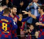 Messi decide ante el Celta con un triplete a balón parado