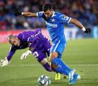 Rubén Martínez, sustituido en el minuto 19 por una lesión en la rodilla derecha