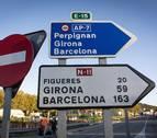 Los independentistas cortan de nuevo la AP-7, ahora en Girona