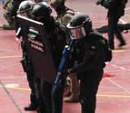 La Policía Foral participa en un simulacro de atentado terrorista
