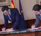 Sánchez e Iglesias presentarán esta tarde su programa de Gobierno