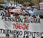 Una manifestación en Pamplona reclama que se garanticen las pensiones