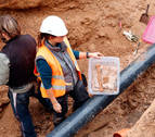 Unas obras sacan a la luz restos de cuerpos medievales en Ribaforada