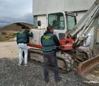 Recuperada una excavadora de más de 60.000 euros sustraída en Puente la Reina