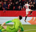 El Sevilla gana con lo justo y al final
