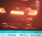 Imputado un vecino de Calahorra por circular a 216 km/h en Mendavia