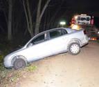 Un herido grave arrollado por un coche que había sufrido un accidente en Sartaguda