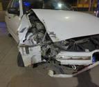 Sufre un accidente en Tudela sin carnet, sin seguro y superando la tasa de alcohol