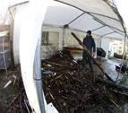 """""""Bienvenidos a la zona cero"""" de las inundaciones en Huarte"""