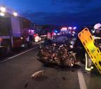 Un accidente en Caparroso deja dos heridos graves y un menor herido leve
