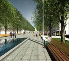 Un estanque y más peatonalización, tercera propuesta para el Paseo Sarasate