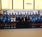 El equipo navarro Movistar se presenta en su décima temporada con Telefónica con 14 altas