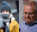 El primer ministro australiano y Greta Thunberg se enfrentan por la crisis climática
