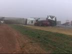 Un camión sufre un aparatoso accidente sin víctimas en Texas (EE UU)