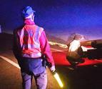 Una conductora se sale de la vía y da positivo en alcohol en Lumbier