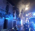 Una mujer herida en el incendio de una vivienda en San Martín de Unx