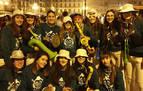 Pamplona da la bienvenida al año 2020 disfrazada en una Nochevieja gélida