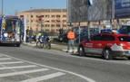 Herido grave un motorista tras salirse de la vía y chocar contra una señal  en Cordovilla