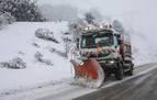 La nieve obliga a usar cadenas en puertos asturianos y cántabros