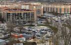 La zona azul de la Rochapea deja semivacíos los aparcamientos de Corralillos y Anelier