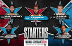 Doncic será titular en el 'All Star' con Antetokounmpo y James como capitanes